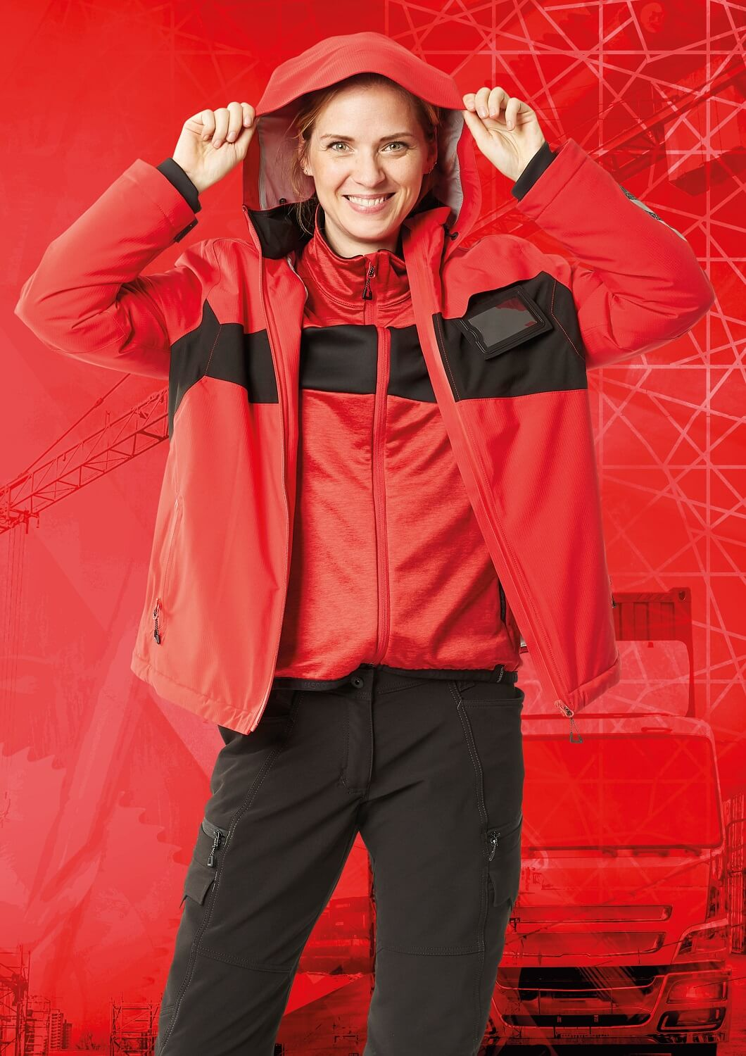 Vestes pour femme , Sweat & Pantalon - MASCOT® ACCELERATE - Rouge