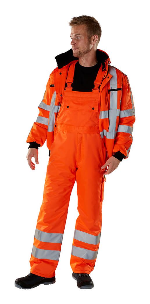MASCOT® SAFE ARCTIC Veste grand froid & Salopette - Hi-vis orange - Modèle