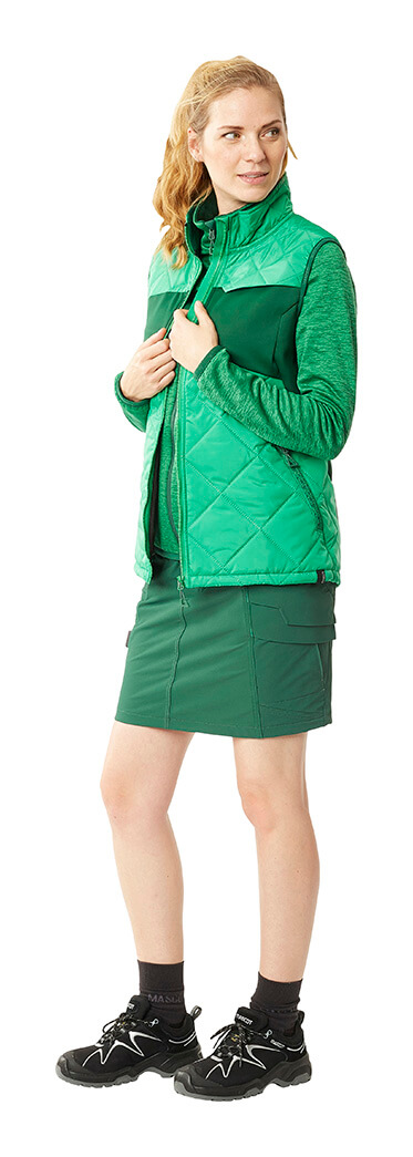 MASCOT® ACCELERATE Rok, Thermobodywarmer & Trui - Groen - Vrouw
