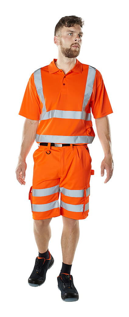 Modèle - Short & Polo - Hi-vis orange - MASCOT® SAFE CLASSIC