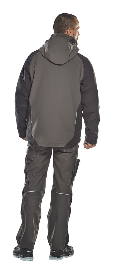 Man - Winter softshell jas - Grijs - MASCOT® UNIQUE