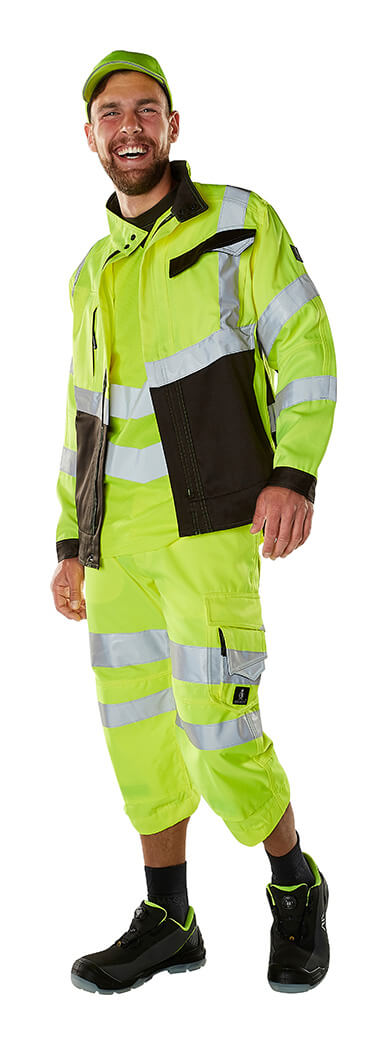 Jack & Driekwartbroek - Hi-vis geel - MASCOT® SAFE SUPREME - Model